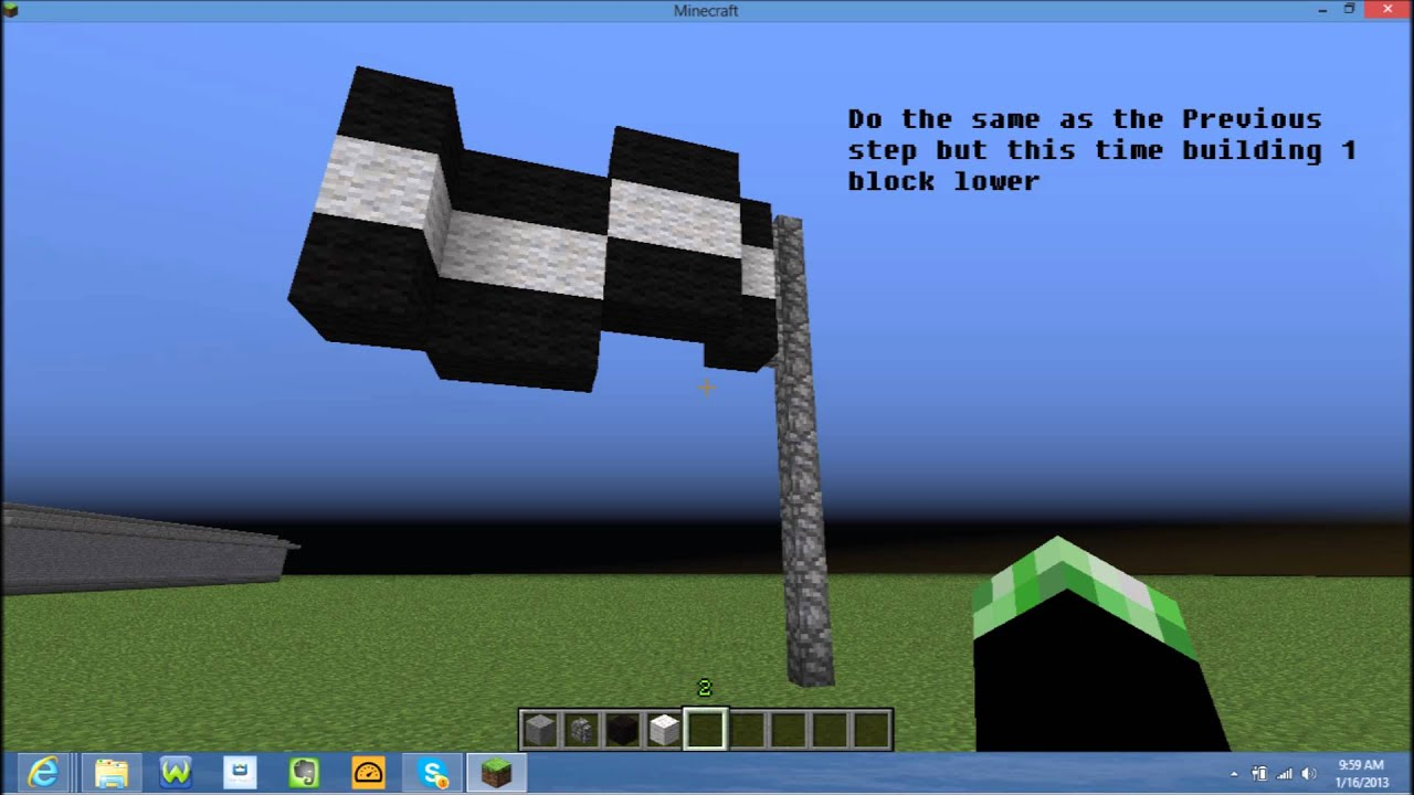 Minecraft how to make a peace banner
