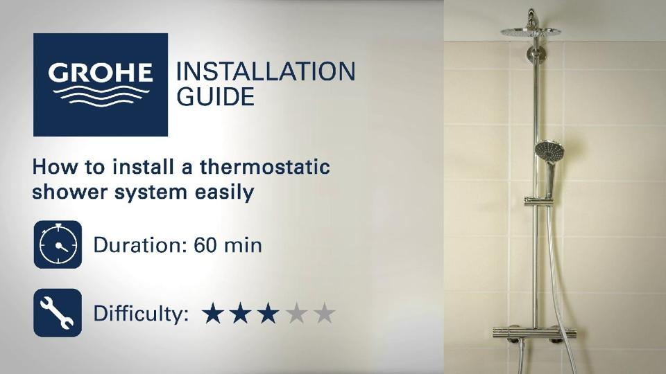 Grohe thermostatic valve installation manual
