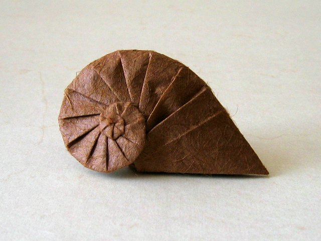 origami spiral shell instructions