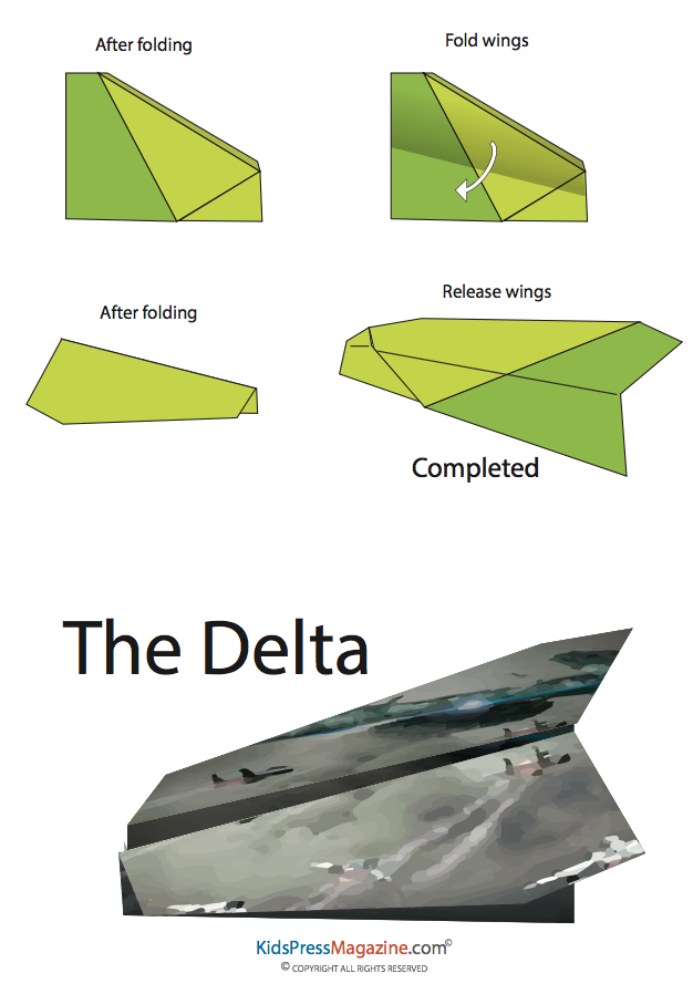 easy paper airplane instructions
