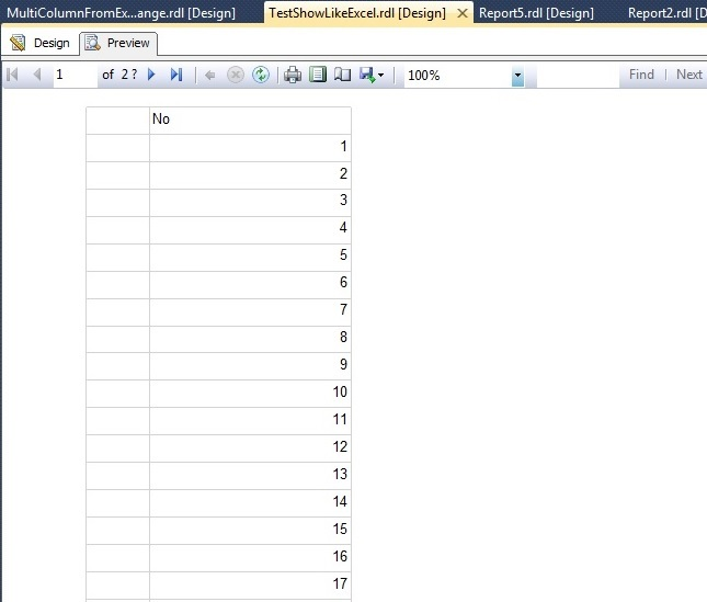 Ssrs how to build a simple multi-column report